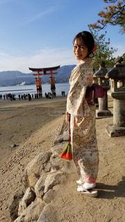 宮島の大鳥居の写真・画像素材[1435409]