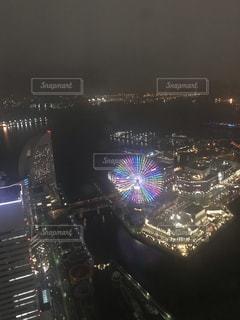 横浜ロイヤルパークホテルからの夜景の写真・画像素材[1970550]
