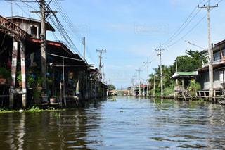 タイの水上生活の写真・画像素材[1456186]
