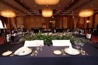 結婚式のテーブルの写真・画像素材[1836299]