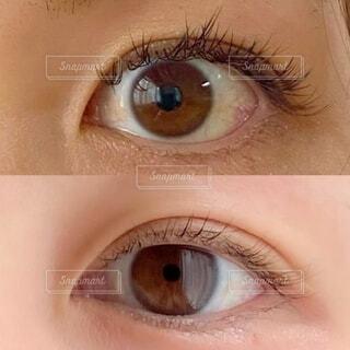 人の目のクローズアップの写真・画像素材[3651735]