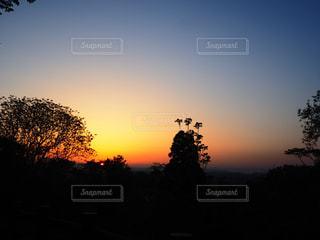 呉羽山の夕日の写真・画像素材[1439849]