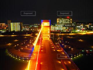 夜の街の景色 in 環水公園の写真・画像素材[1668725]