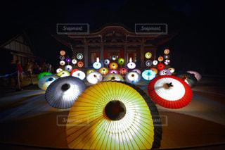 和傘の写真・画像素材[1437729]