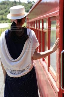 電車と私の写真・画像素材[1450784]