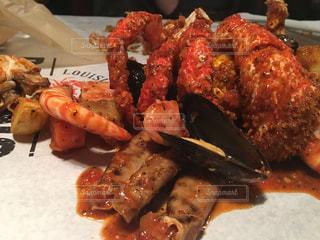 蟹料理手づかみの写真・画像素材[1439833]