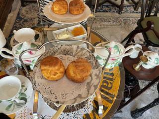 スコーンと紅茶の写真・画像素材[1442038]
