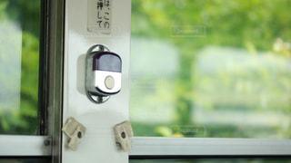 路線バスの降車ボタンの写真・画像素材[1442753]