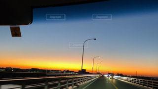 夕焼けドライブ1の写真・画像素材[2959366]