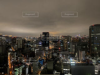 夜の都市の眺めの写真・画像素材[3006222]