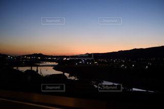 夕暮れの紀の川の写真・画像素材[1446967]