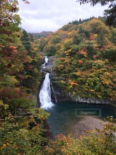 法体の滝の紅葉の写真・画像素材[1447603]