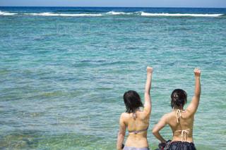海に来たぞー!の写真・画像素材[1444933]