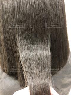 健康毛、バージンヘア、髪質改善後の髪です。広告などにおすすめです。の写真・画像素材[1843036]