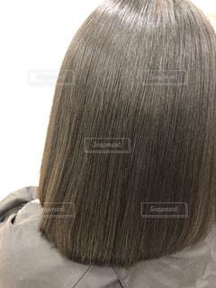 健康毛、黒髪バージンヘア、髪質改善後の髪です。広告などにおすすめです。の写真・画像素材[1843038]