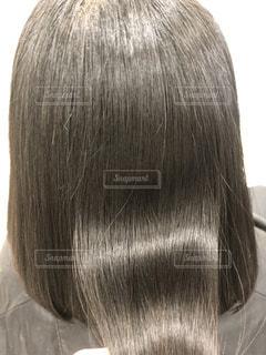 健康毛、黒髪バージンヘア、髪質改善後の髪です。広告などにおすすめです。の写真・画像素材[1843041]