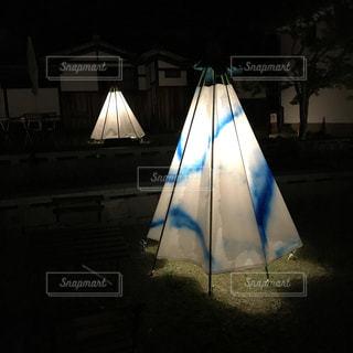 和傘ランプの写真・画像素材[1457934]