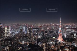 夜の街の眺めの写真・画像素材[2351951]