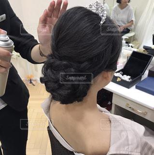ウェディングヘアスタイルの写真・画像素材[1550084]