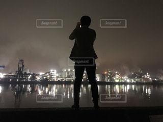 コンビナートの夜景の写真・画像素材[2190266]