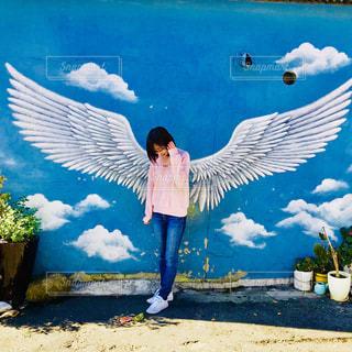 天使の羽の写真・画像素材[2750619]