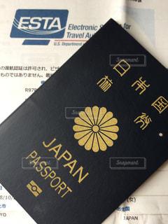パスポートとESTA申請コピーの写真・画像素材[1453828]