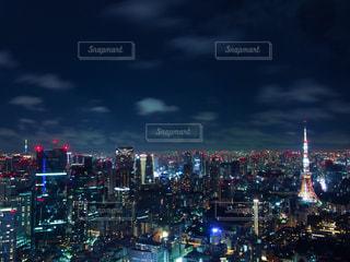 六本木ヒルズの展望台から見た夜景の写真・画像素材[1451929]