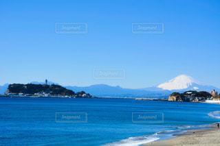 江の島と富士山の写真・画像素材[1453294]