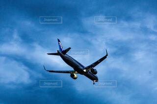 曇りの日に空中を飛ぶヘリコプターの写真・画像素材[4900789]