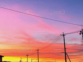 夕焼けのグラデーションの写真・画像素材[1492685]