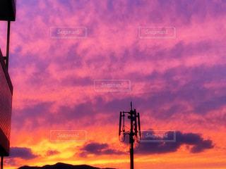 空一面の夕焼けの写真・画像素材[1527600]