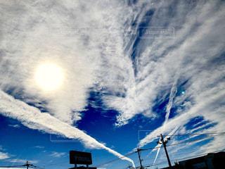 空には雲のグループの写真・画像素材[1589515]