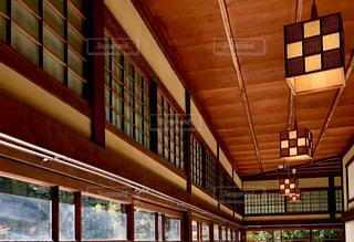 日本家屋の廊下の天井の写真・画像素材[1638439]