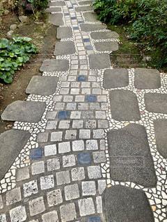 石のアプローチの写真・画像素材[1743103]