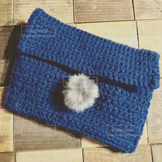 青いバッグの写真・画像素材[1453062]