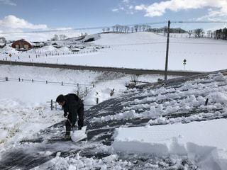雪降ろしの写真・画像素材[1454840]