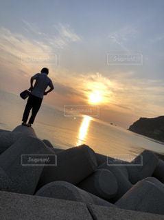 夕日の写真・画像素材[1453842]