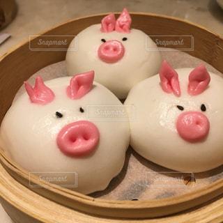 香港飲茶のオリジナル豚まんの写真・画像素材[1753034]