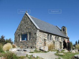 テカポ湖の善き羊飼いの教会の写真・画像素材[1785486]