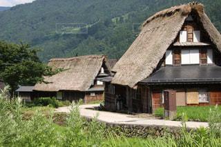 越中五箇山相倉合掌集落の美しい風景の写真・画像素材[2243220]