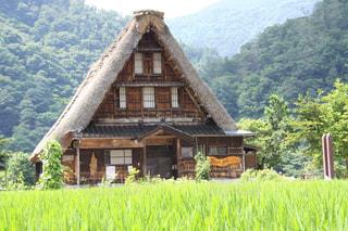 越中五箇山相倉合掌造りの懐かしい日本の風景の写真・画像素材[2244315]