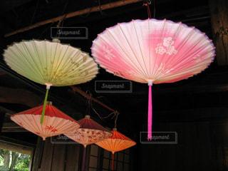 魅力的な珍しい知覧傘提灯の写真・画像素材[2448835]