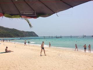 タイ、パタヤのラン島のビーチの写真・画像素材[1459453]