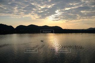 大船渡湾からの日の出の写真・画像素材[1482024]