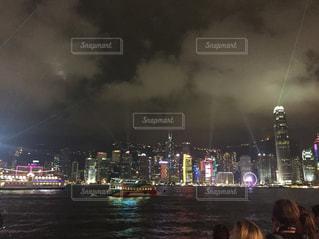 香港の夜景の写真・画像素材[1685152]