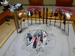 囲炉裏料理の写真・画像素材[1585825]