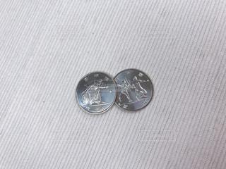 東京オリンピックの記念硬貨の写真・画像素材[1647880]