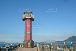 高松港 赤灯台の写真・画像素材[1598225]