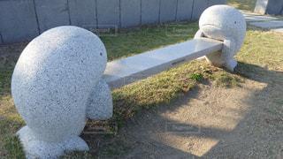 高松港のベンチの写真・画像素材[1598371]