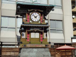 道後温泉駅近くの時計台の写真・画像素材[1613230]